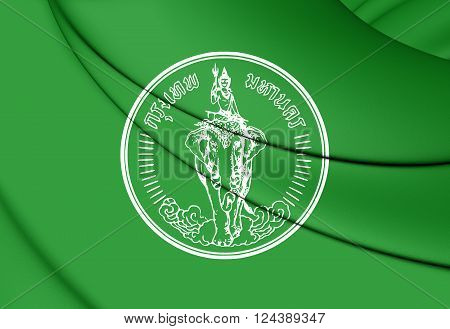 Flag Of Bangkok, Thailand.