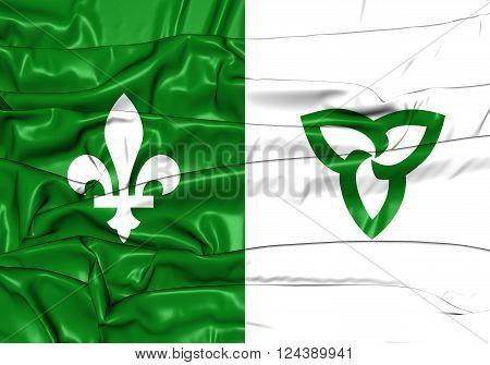 Franco-ontarian Flag. Ontario, Canada.