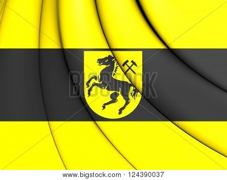 Flag Of Herne, Germany (north Rhine-westphalia).