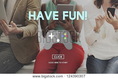 Gaming Fun Digital Trends Technology Online Concept