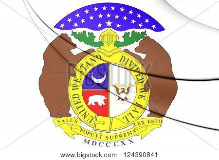 Missouri Coat Of Arms, Usa.