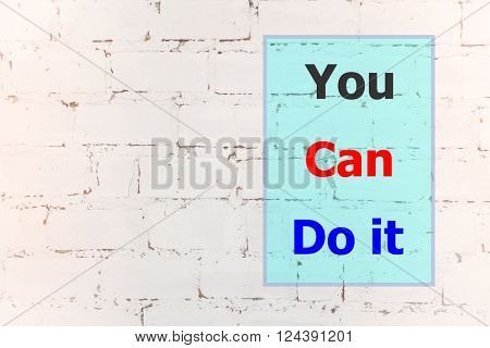You can do it quote design poster stock photo