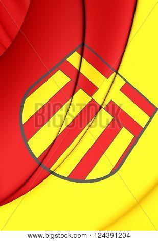 Flag Of Paderborn (north Rhine-westphalia), Germany.
