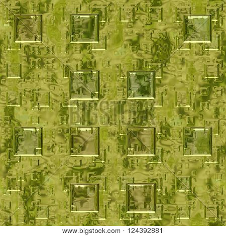 Golden metallic flash texture with squares - abstract background