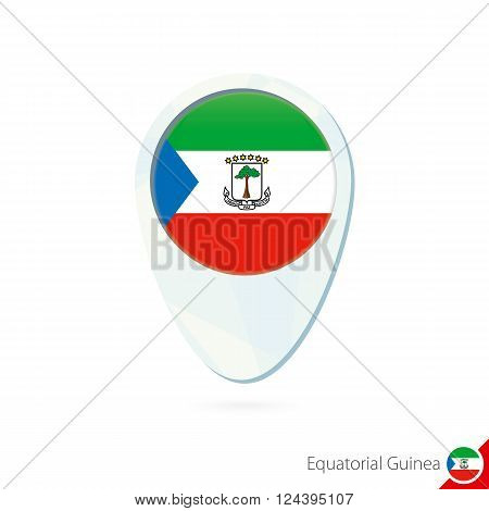 Equatorial Guinea Flag Location Map Pin Icon On White Background.