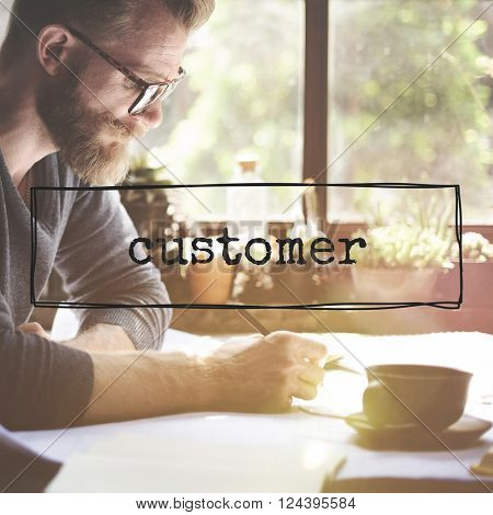 Customer Marketing Target Client Buyer Concept