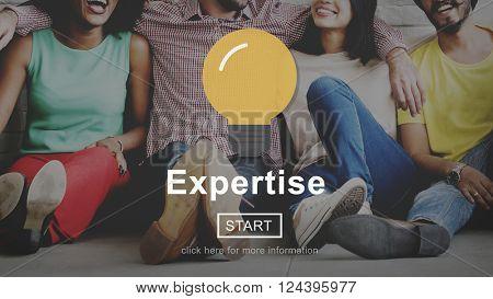 Expertise Professional Excellent Ability Brilliant Concept