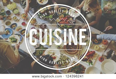 Cuisine Restrurant Kitchen Cafe Food Concept