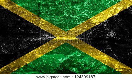 Flag of Jamaica, Jamaican Flag painted on stones