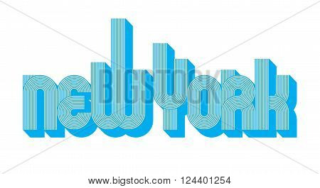Vector Illustration of the word