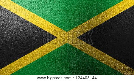 Flag of Jamaica, Jamaican Flag painted on glass