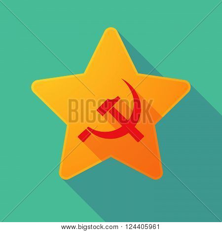 Long Shadow Star With  The Communist Symbol