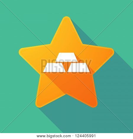 Long Shadow Star With Three Gold Bullions
