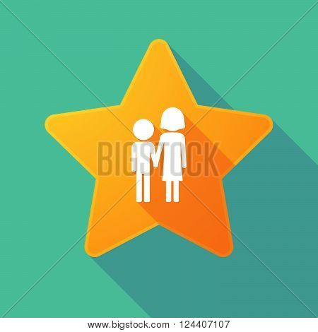 Long Shadow Star With A Childhood Pictogram