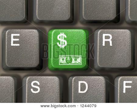Keyboard (Closeup) With Dollar Key