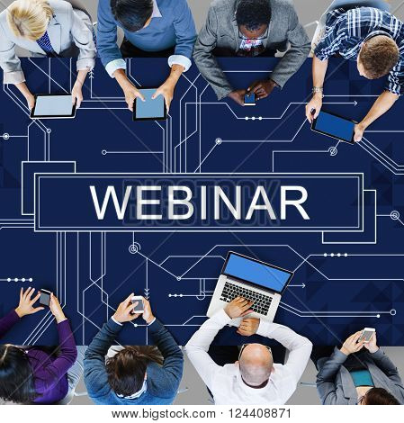 Webinar Cloud Online Technology Webcast Concept