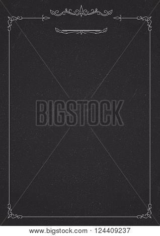 Vertical Cafe Menu Classic Blackboard Background