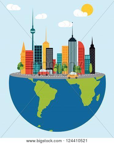 The big city as a part of life  Data source: NASA