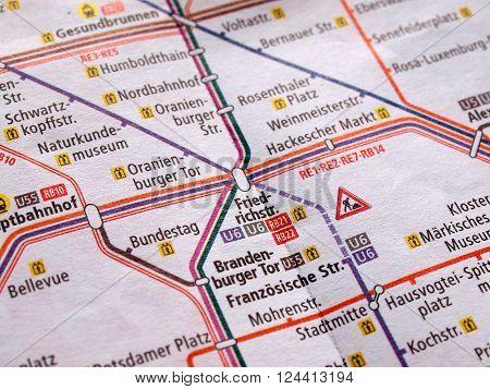 Detail Of Berlin Subway Map
