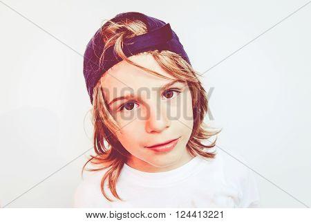 brat child - filtered vintage style photo