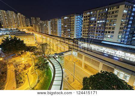 Hong Kong kwan tong downtown at night