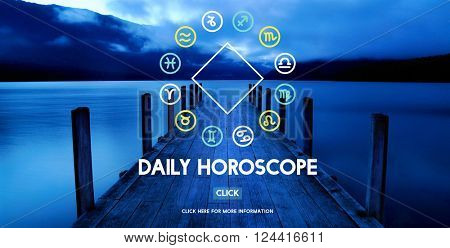 Horoscope Astral Calendar Future Prediction Signs Concept