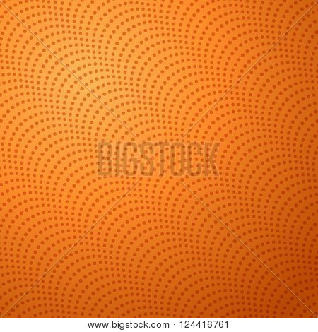 Surface of Basketball Ball with Bumps. Square Background on Basketball Theme. Editable Vector Illustration.