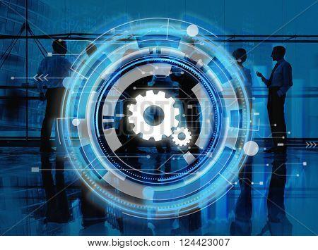 Digital Blue Hud Interface Design Concept