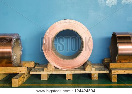Copper rolled products or copper foil (sheet) in storage area conductor raw material for transformer manufacturing