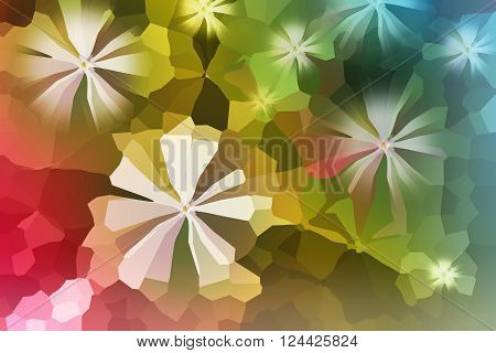 Colourful Crystallize Abstract Fresh And Cheerful Background