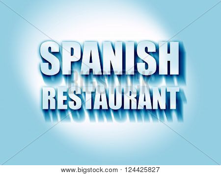 Delicious spanish cuisine with some soft lines