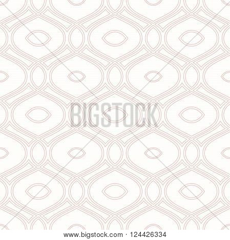Seamless vector ornament. Modern geometric pattern with repeating pink wavy lines