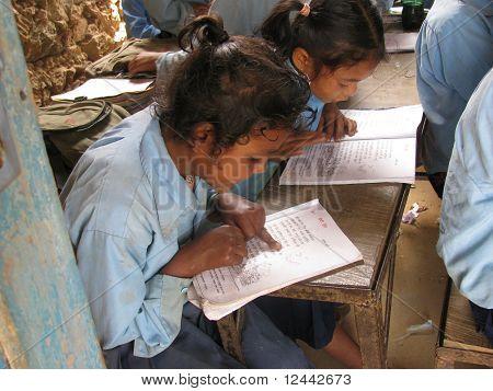 Girls at study