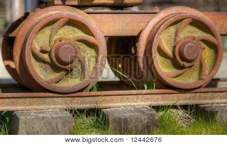 Old Rail Car Wheels