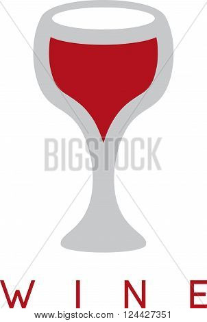 Abstract Icon Vector Design Template Of Wineglass