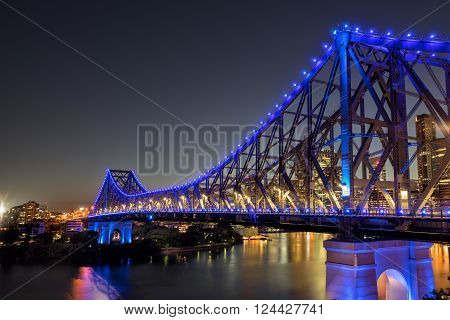 The Story Bridge across the Brisbane River