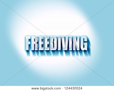 freediving sign background with some soft smooth lines