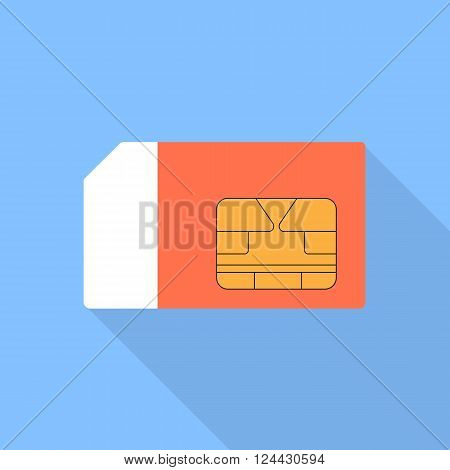 Sim card vector illustration of a flat design.
