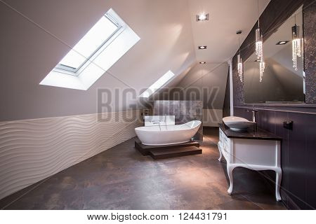 Spacious Bathroom In Attic