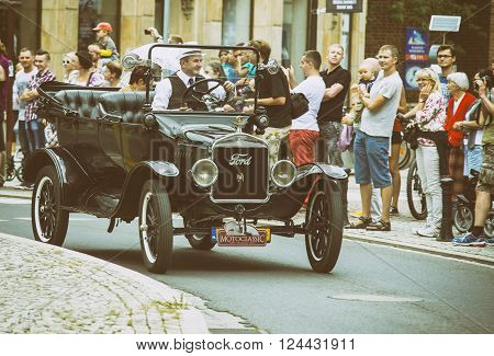 Wroclaw- August 18:ford 1924 On Motoclassic Show In Vintage Effect  In Wroclaw, Poland On August 18,