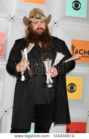 LAS VEGAS - APR 3:  Chris Stapleton at the 51st Academy of Country Music Awards at the MGM Grand Garden Arena on April 3, 2016 in Las Vegas, NV