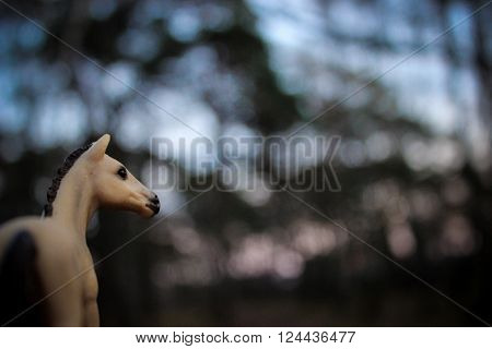 Model horse akhal-teke schleich in mistery forest
