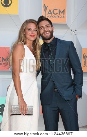 LAS VEGAS - APR 3:  Thomas Rhett at the 51st Academy of Country Music Awards Arrivals at the Four Seasons Hotel on April 3, 2016 in Las Vegas, NV