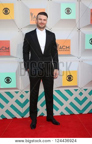 LAS VEGAS - APR 3:  Sam Hunt at the 51st Academy of Country Music Awards Arrivals at the Four Seasons Hotel on April 3, 2016 in Las Vegas, NV