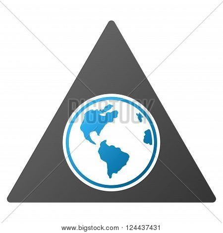 Terra Triangle vector toolbar icon for software design. Style is a gradient icon symbol on a white background.