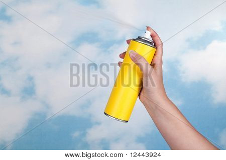 Spraying Poison In The Air