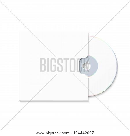 CD cover template DWD. Box for CD. Insulated packaging for discs. DWD Envelope. Vector CD box. Box CD DWD isolated on white