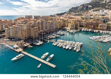 Fontvieille Monaco Harbor Monte carlo