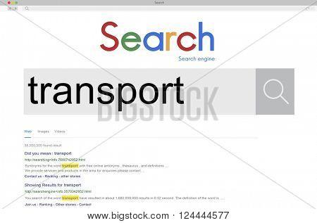 Transport Logistics System Vehicle Freight Transportation Concept