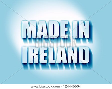 Made in ireland with some soft smooth lines